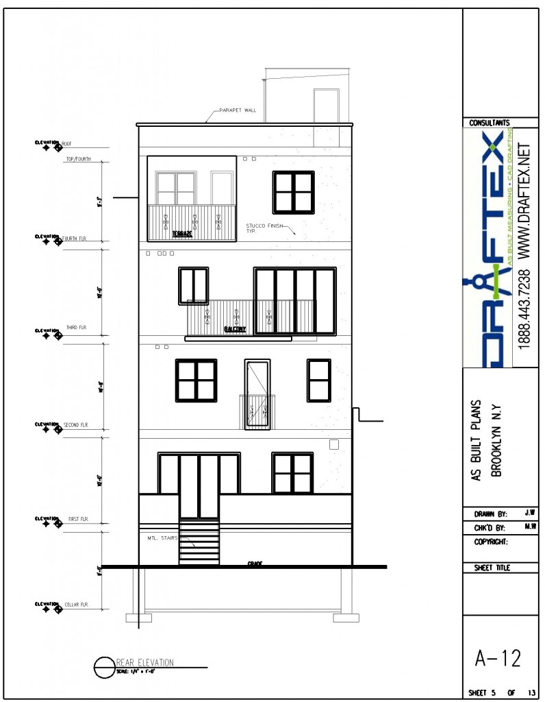 As built elevation plans